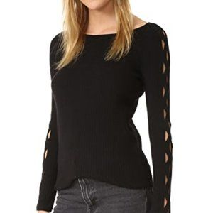 Ramy Brook Kimila Sweater Black Small